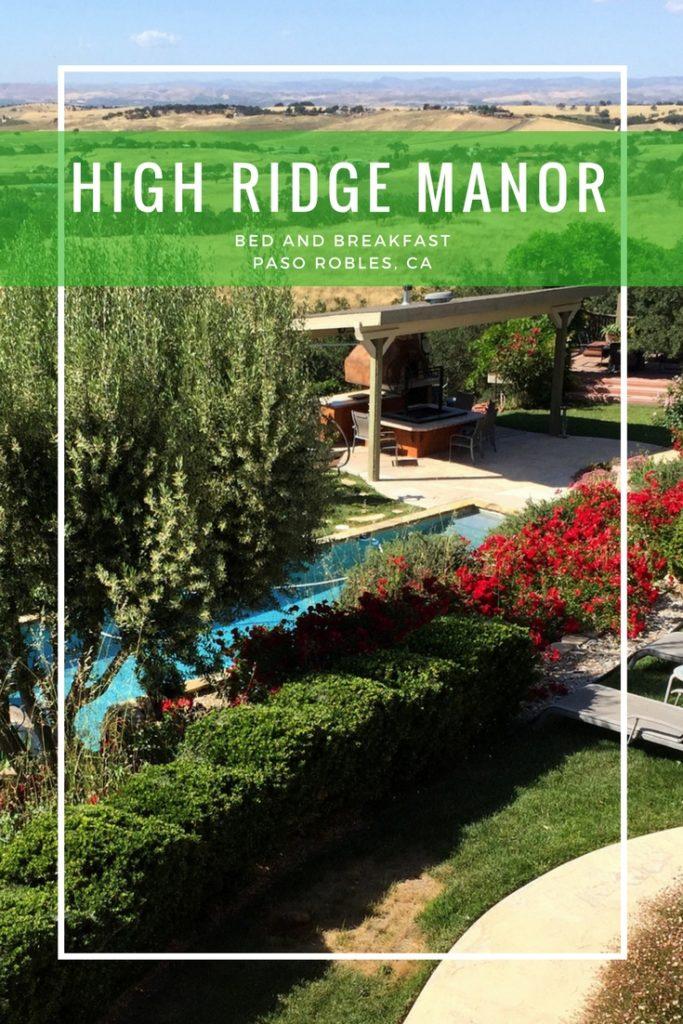 Sunset at High Ridge Manor, Paso Robles, California, Travel, wine tasting