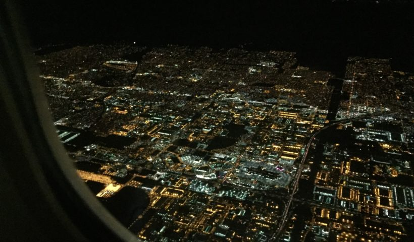 View of Los Angeles from plane, Flying, City View, Those Someday Goals