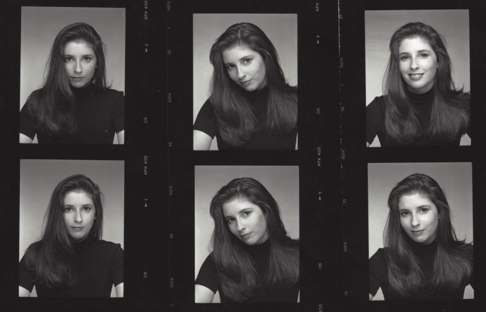 James J. Kriegsmann, Jr. Headshots, Patricia Steffy, Contact Sheet