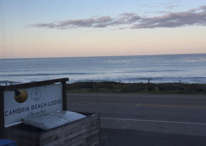 Cambria Beach Lodge, Sunset, Pacific Ocean, Summer, Cambria, California