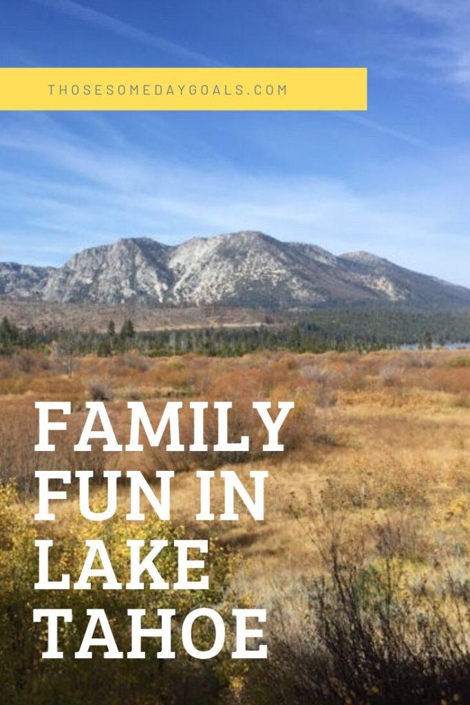 South Lake Tahoe, Taylor Creek, California, family travel