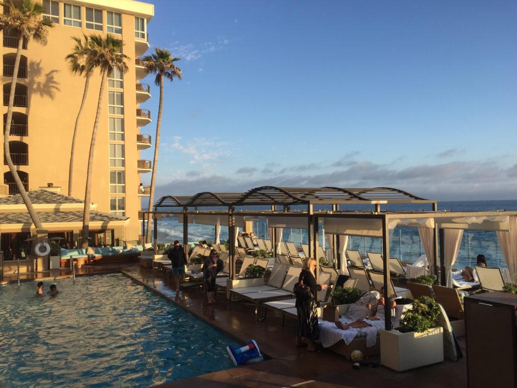 Pool and Ocean views at Surf & Sand Resort