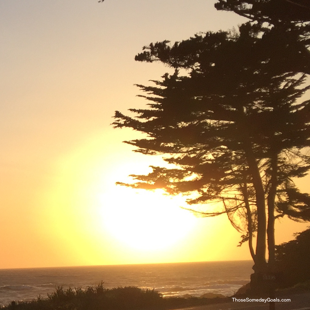 Sunset in Cambria, California