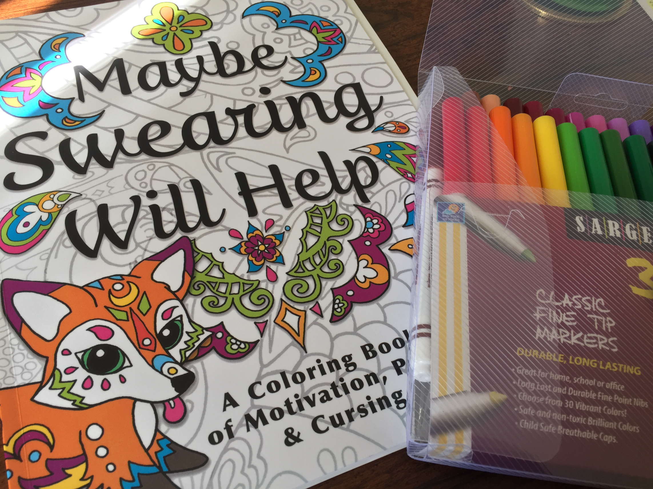 Adult Coloring Book Maybe Swearing Will Help
