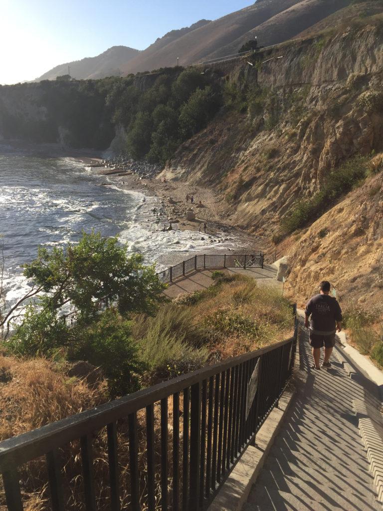 Dinosaur Caves Beach Cove Access Stairs