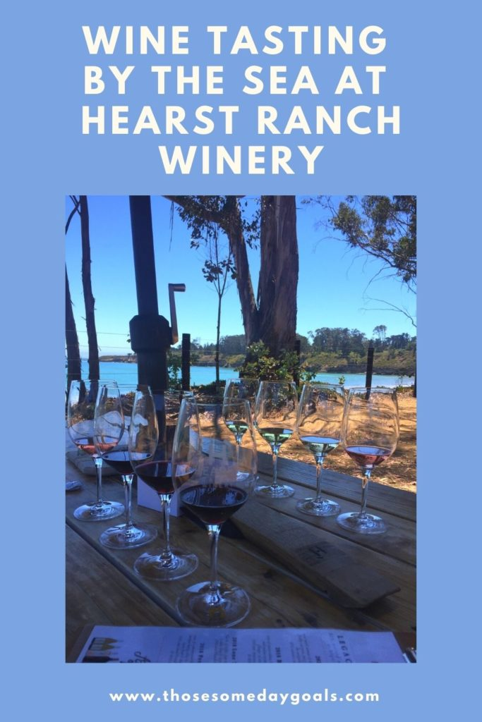 Wine flights, wine tasting by the sea, hearst ranch winery, sebastian's, central coast, road trip, those someday goals, pinterest
